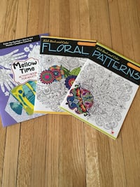 Adult coloring books, mellow time activity book, floral pattern, patterns to music, brand new Robbinsdale, 55422