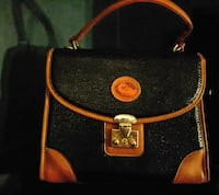 Black and Brown Dooney & Bourke leather handbag