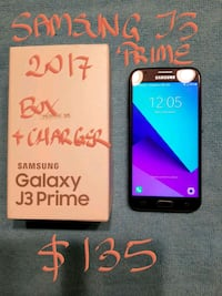 $135FIRM SAMSUNG J3 PRIME A+condition+box+charger