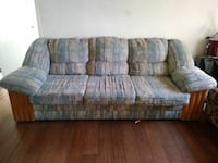 gray and brown fabric 3-seat sofa