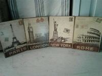 Metal postage stamp wall decor Harker Heights, 76548