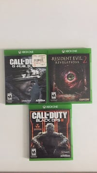 Xbox one games, BO3, COD Ghosts, and RE revelations 2 Reisterstown, 21136