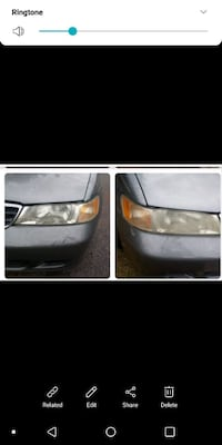 Car headlight restoration