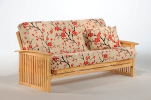 Wilmington Futon In Natural or Honey Oak  New-In-Box