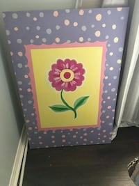 purple and white floral wooden frame Ajax, L1T 3X3