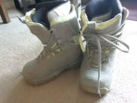 Woman's size 7.5 snowboard boots. Green and grey.  Edmonton, T5R