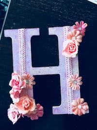 Decorated letter H for nursery or over the crib Calgary, T3K 6J7