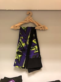 black and purple printed textile 306 mi