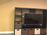 Big tv stand with fabric drawers Oakville, L6M 0N1