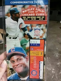 Wrigley Field Chicago cubs commemorative ticket 646 mi