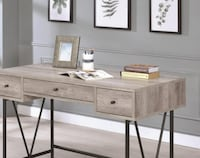 Brand New  Guthrie Industrial Style Writing Desk with 3 Drawers CHICAGO