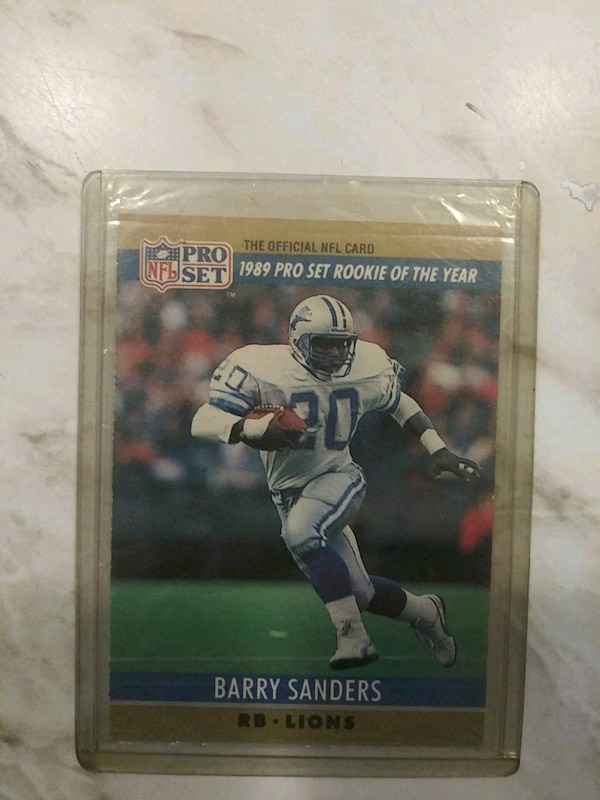 1990 Pro Set Barry Sanders Rookie Of The Year