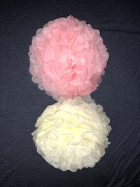 Paper Tissue Flower Poms Centerpieces Backdrop Flowers Chicago, 60638