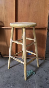 two brown wooden bar stools Castaic, 91384