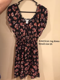 Women's black and red floral print american rag dress Alexandria, 22312