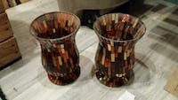 two brown stain glass vases... 513 km