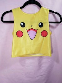 Size small stretchy Pikachu crop top Vancouver, V5R 1K6