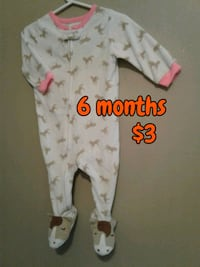 white and pink floral onesie Calgary, T3B 0T3