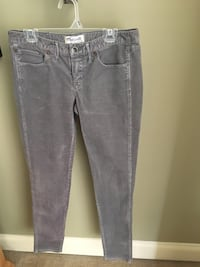 Girls size 16 or Juniors 2 gray corderoy pants  20 km