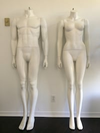 Female and male mannequin forms