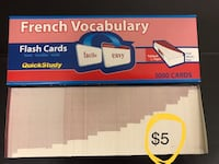 French vocabulary flash cards BRAND NEW Windsor, N8P 1J6