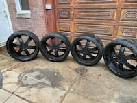 "24"" rims with tires set of four  5 lugs 255x30xZR24  negotiable"