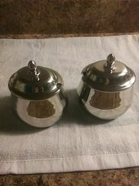 Sant Andre Italy Silver Plated Sugar Bowl Cup Hallmark / Antique