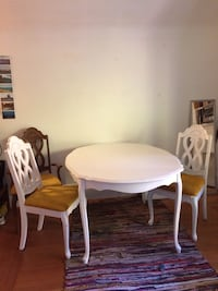 Retro Rococo table and 5 chairs 3744 km