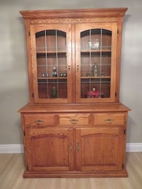 Solid Oak china cabinet and buffet Mississauga