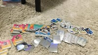 assorted trading card collections