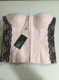 URBAN BEHAVIOUR Pink Corset Top: Size Medium (BRAND NEW  W/ Tags) Toronto, M6G 4A1