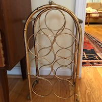 Gold faux bamboo wine rack Alexandria, 22311