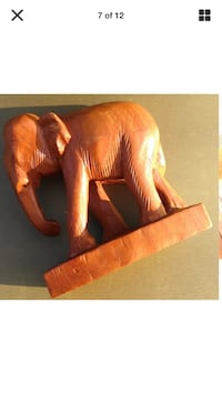 Vintage carved wooden elephant  Elloree, 29047