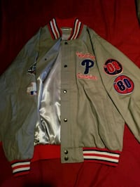 gray and red letterman jacket Quakertown, 18951