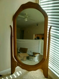 brown wooden framed mirror with mirror Houston, 77008