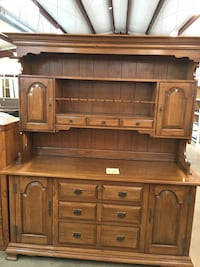 Brown hutch solid pecan with dove tail drawers.Top is removable Seneca, 29672