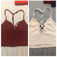 Cropped tank tops
