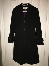 Black button-up coat, size 4 Mississauga, L5B 3P4