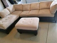 brown and beige sectional couch Mount Prospect, 60056