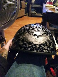 black and white skull print helmet Zion, 60099