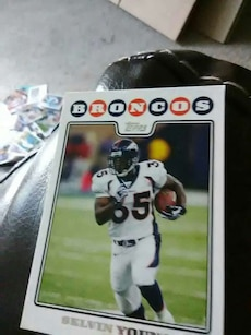 Broncos Selvin trading card