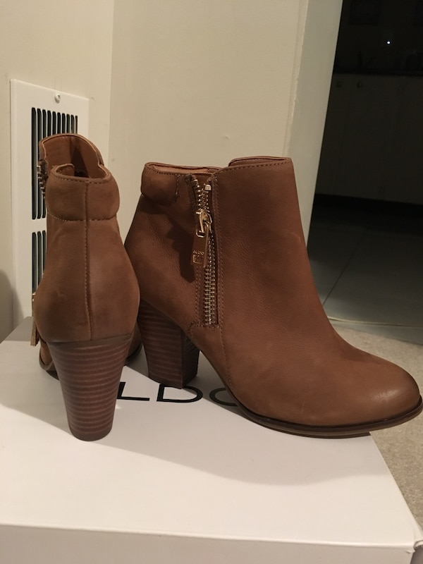 Leather brown ankle boots c1172f9f-bf38-4408-8c92-b2182b6911b7