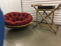 Rattan TV stand and Seat