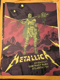 Limited Edition Metallica Concert Posters Bellaire, 77401