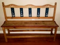 brown and black wooden wall rack 2064 mi