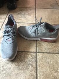 pair of gray Nike running shoes Forest, 45843