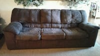 Brown couches. Hanford, 93230