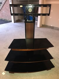 Black glass-top tv stand with mount Woodbridge, 22191