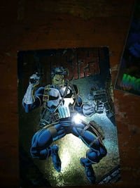 MARVEL UNIVERSE LIMITED EDITION POWER BLAST 1994 PUNISHER GOLD