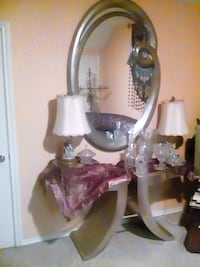 Silver designer table and mirror Pottsboro, 75076